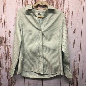 Women's Striped Button Down Shirt
